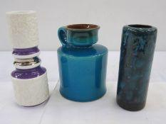 Graflich Ortenburg WGP vasewith handle, shape no. 677/14, 14.5cm high, Royal KPM porcelain Berlin