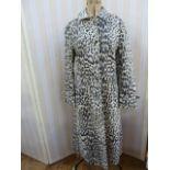 Vintage 1970's(?) leopard printed macwith tie belt