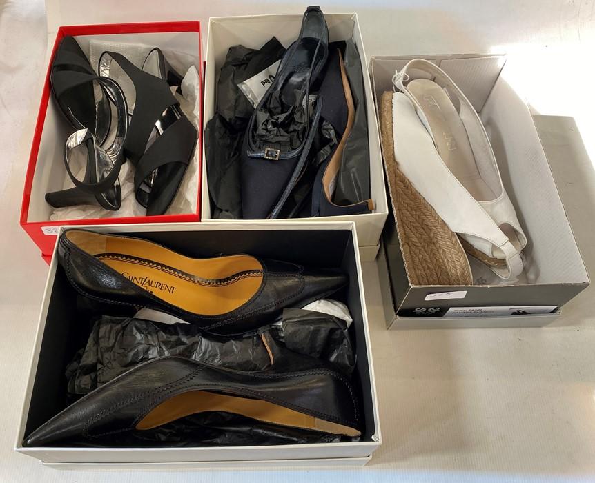 Various designer shoesin original boxes, to include Yves Saint Laurent, Unisa, Hogan, Martini