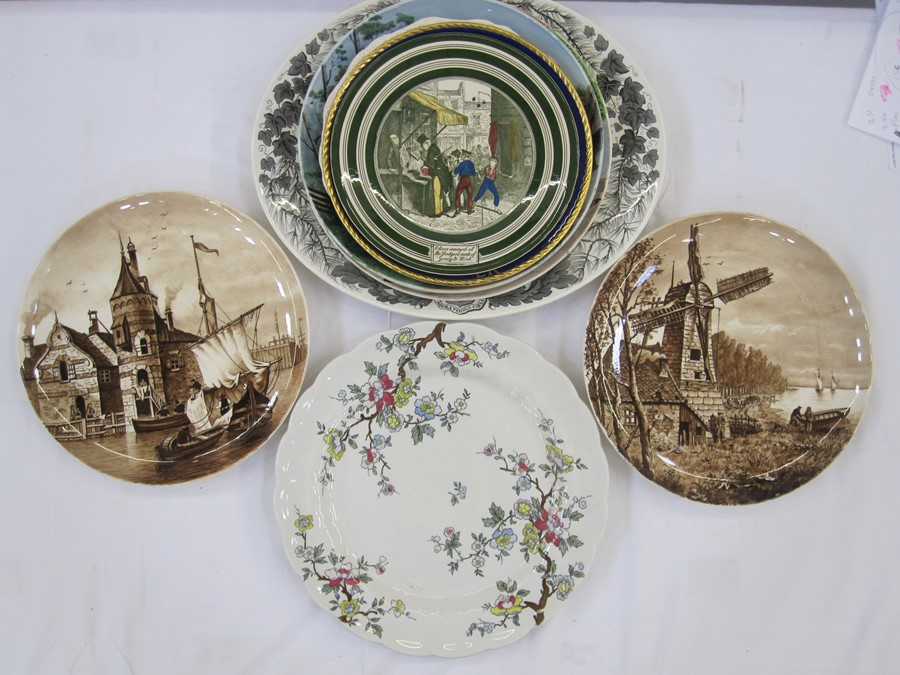 Adams 'Oliver Twist' plate, Paragon 'To Commemorate the Coronation of Her Majesty Queen Elizabeth