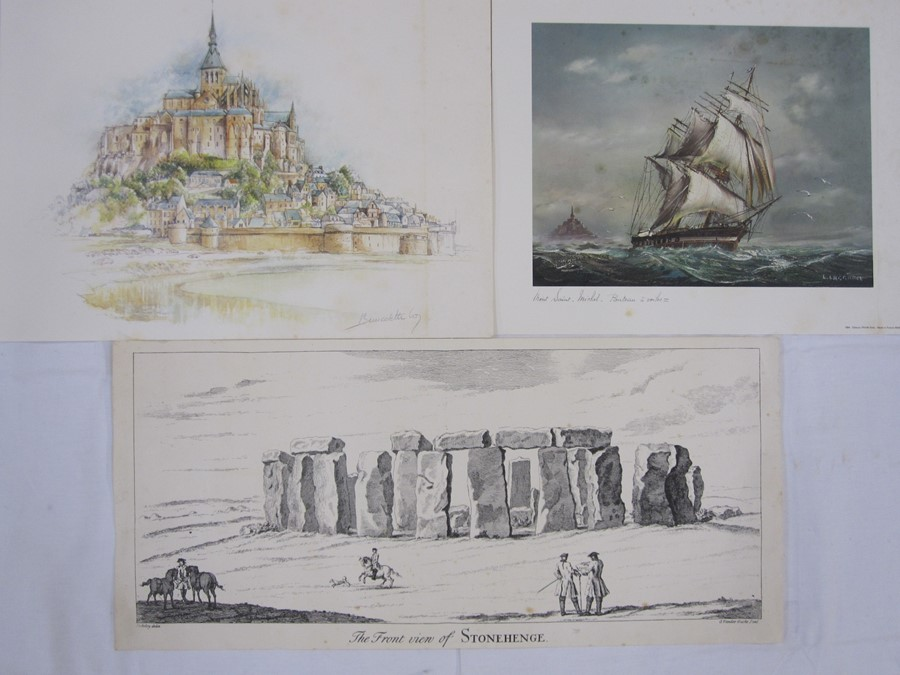 """Margaret Jolliffe Black and white print """"St Frances of Assisi"""" and other prints and pictures(all - Image 3 of 4"""