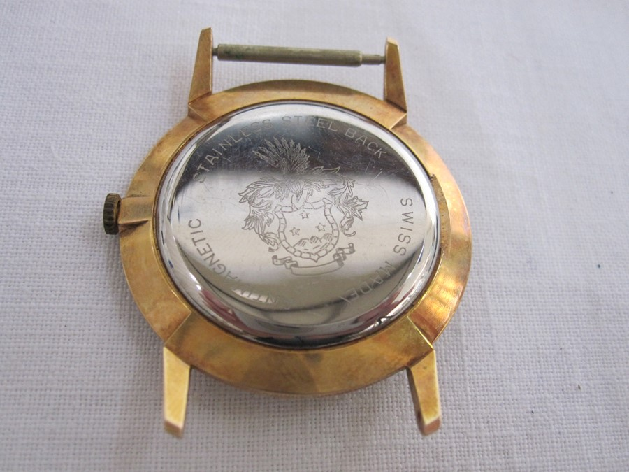 Mid 20th century gent's Omega gilt metal wristwatch with subsidiary seconds dial (face missing and - Image 2 of 2