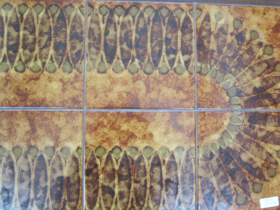 Tile topped rectangular coffee table with undertier, 56cm wide - Image 2 of 3
