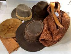 Christy's lady's trilby , size UK 6 7/8ths, Toggi leather lady's hat, Herbert Johnson ladies trilby