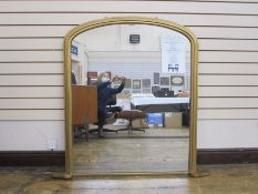 Gilt painted arch-shaped overmantel mirror, 132cm high x 132cm wide approx Condition Reportmodern