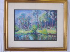 Casell 20th century school Pastel study Landscape scene, signed indistinctly and dated '89 lower