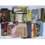 Six vintage Liberty silk scarves,a vintage Liberty wool scarf and otherassorted silk scarvesto