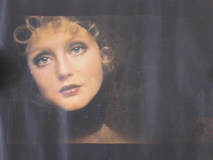 """Vogue Spring/Summer 1982 poster""""Butterfly Colours"""" in blue and yellow, Vogue poster Spring/Summer - Image 3 of 3"""