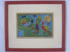 June Henderson (20th Century) Limited edition print, Birds and berries I, No. 2 of 4,