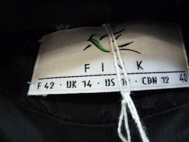 Black corduroyfitted coatlabelled 'Paddy Campbell', three button fastening, a black suitwith gold - Image 6 of 6