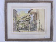 Peter Roddis  Watercolour 'Wisteria at le Bouleve, Lot'