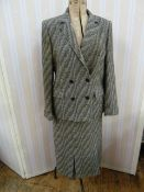 Vintage tweed suitlabelled 'Hardy Amies, 14 Saville Row'