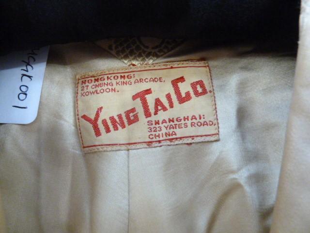 Vintage satin three quarter length jacket, labelled 'Ying Tai Co, Hong Kong and Shanghai', a - Image 2 of 7