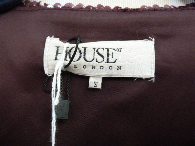 Black corduroyfitted coatlabelled 'Paddy Campbell', three button fastening, a black suitwith gold - Image 4 of 6