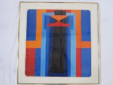 Set of six abstract colour prints, unsigned and unlabelled, 48 x 50.5cm (6)Condition ReportSome mild