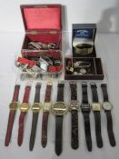 Quantity of lady's and gent's vintage and later watches (2 boxes)