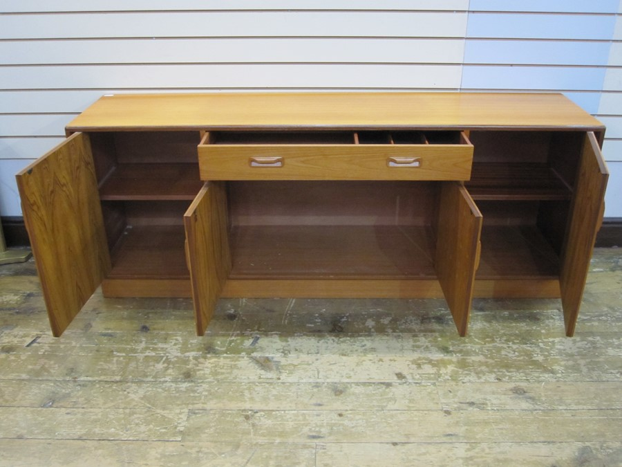 Mid 20th century G-Plan teak sideboard with curved bar handles, single drawer above cupboard, - Image 2 of 2