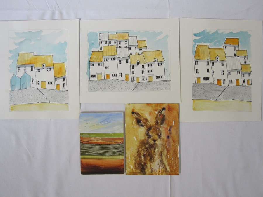 """Margaret Jolliffe Black and white print """"St Frances of Assisi"""" and other prints and pictures(all - Image 2 of 4"""