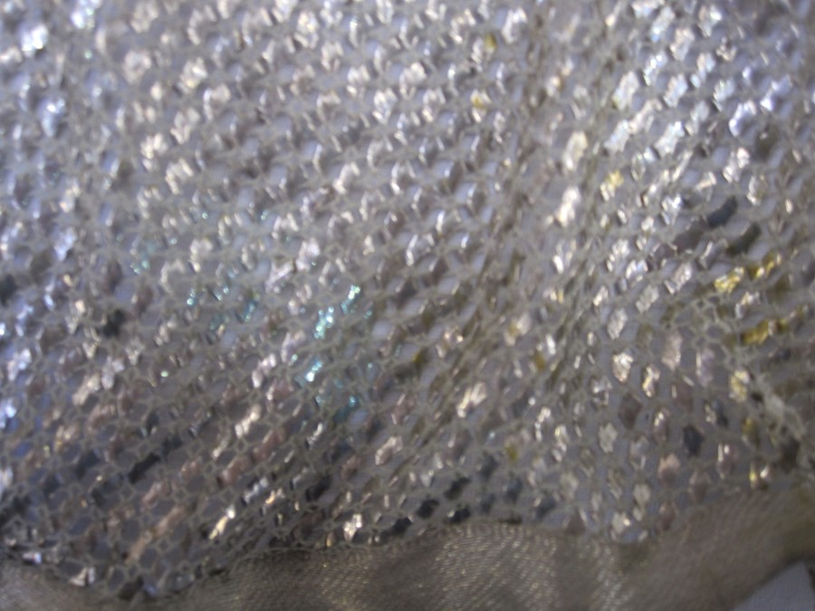 Large assuit shawl with silver-coloured metal Condition ReportA hole - show in images Tarnished Size - Image 2 of 2