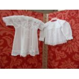 Seven various babygowns to include a small Ayrshire work babygown, pin-tucked and broderie