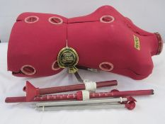 Modern red Diana Autoset dressmaker's dummywith attachments (incomplete) Condition ReportPlease
