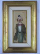 Elio Citali 20th century school Oil on canvas Study of a clown, labelled to reverse, signed