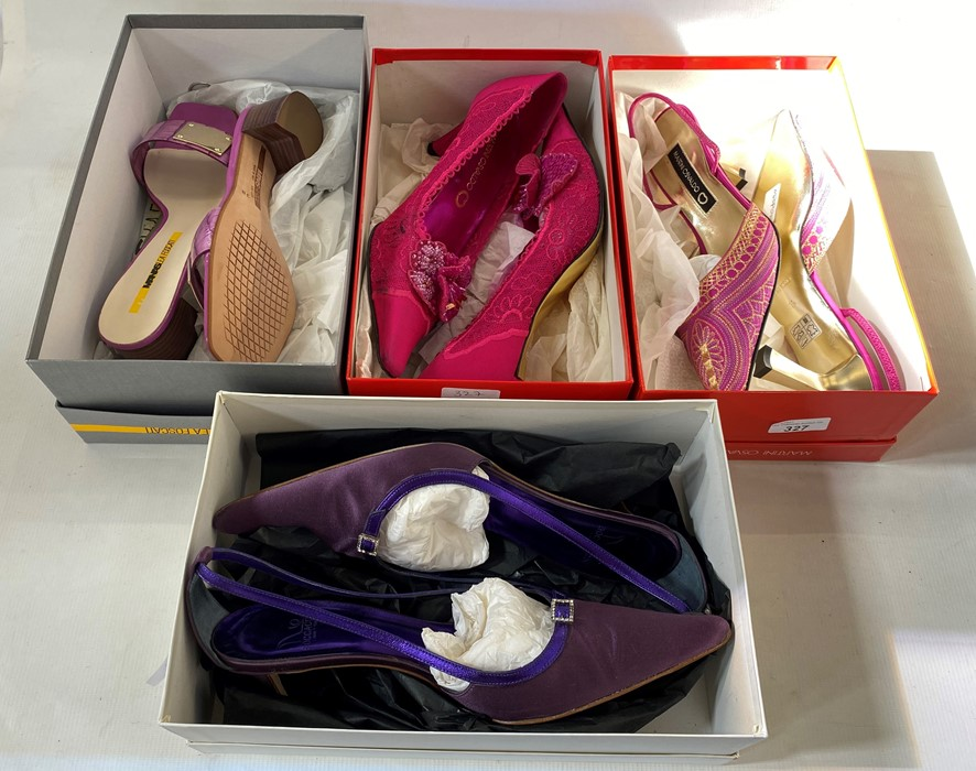Quantity of designer shoes in original boxes, all 38 and 38 and half, to include Martini Osvaldo,