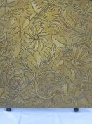 Arts & Crafts/ Aesthetic Movement painting on canvas screen, circa 1880, William Morris-style floral