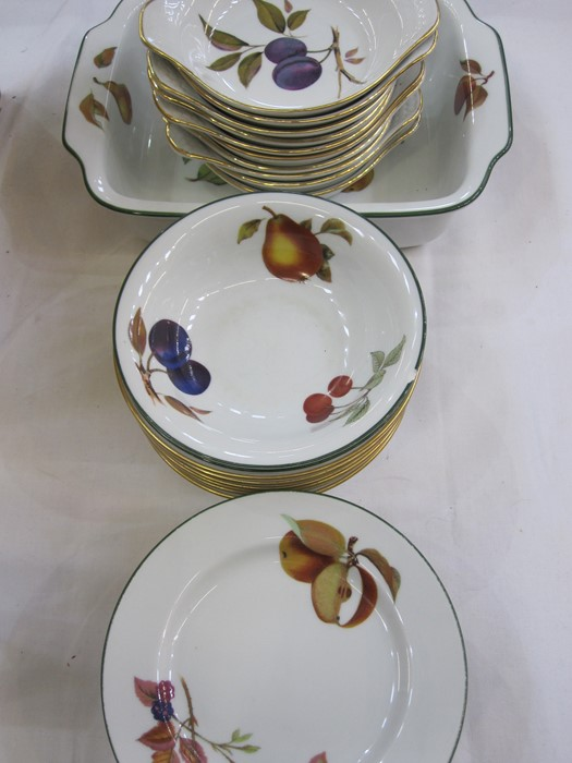 Quantity of Worcester 'Evesham' pattern part dinner and tea servicecomprising mugs, serving dishes, - Image 2 of 2