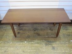 20th century stained oak rectangular occasional table, 119cm x 47cm