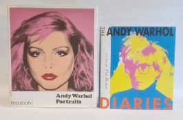 Hackett, Pat (ed) 'The Andy Warhol Diaries'  Simon and Schuster 1989 , black cloth with silver