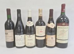 Magnum of 2002 Bordeaux (Eleve en Futs de Chene) together with various other bottles to include 2011