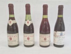 Three half bottles of 1955 Faiveley Morey-Saint-Denis 365ml and one half bottle of 1988 Clos De