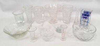 Assorted glasswareto include wines, bowls, vases, etc (1 shelf)
