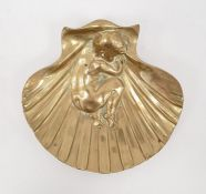Noel Ruffier (1847-1921), Paris, gilt metal shell dish, 15 cm wide (Noel Ruffier studied under