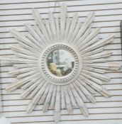 Modern sunburst wall mirror, 106cm diameter approx