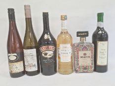 One bottle of Baileys Irish Cream, one bottle of Muscat de Rivesaltes l'Or du Roussillon, one bottle