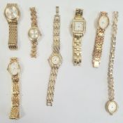 Lady's Sekonda wristwatch, gilt metal and various other lady's wristwatches