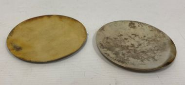 Mid 20th century silver communion paten, marked 'IHS',makerA R Mowbray & Co Ltd, London 1959, 2toz
