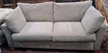 Two-seater Next sofa in grey upholstery