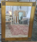 Rectangular mirror in gilt-effect frame, 99.5cm x 124cm