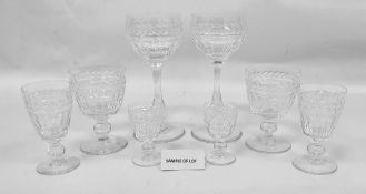 Suite of Stuart glassware to include hocks, wines, sherries, etc  Condition ReportThere are 2 X