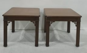 Pair of modern square-topped coffee tables in the Chinese taste (2)