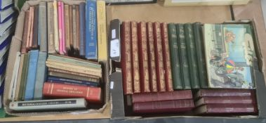 Various volumes - 'History of England', red cloth with gilt pictorial backstrips , Keighley '