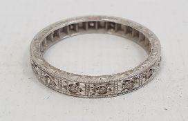 18ct white gold and diamond eternity ring, 3.2g Condition Reportring size O approx.