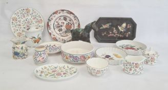 Poole pottery bowl, plate and small vase, small quantity of Mintons 'Haddon Hall' teaware, small