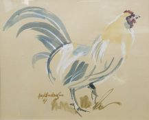 Mark Haskings Watercolour Picture of a chicken, 22 x 27cm
