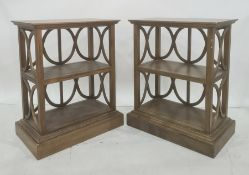 Set of four low modern shelving units, possibly Oka (4)  Condition ReportThere are lots of  minor