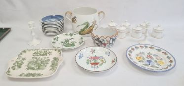 10 Bing & Grondahl Mother's Day plates, blue and white, Royal Worcester two-handled Evesham