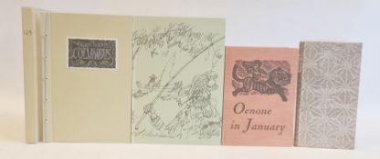 Private Press - Crossley-Holland, Kevin ( text) Lawrence, John ( ills)'Oenone in January' The Old